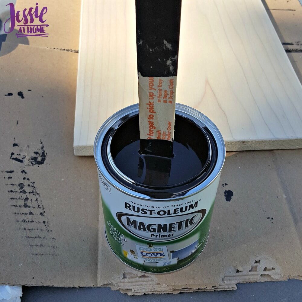 Magnetic paint is thick!