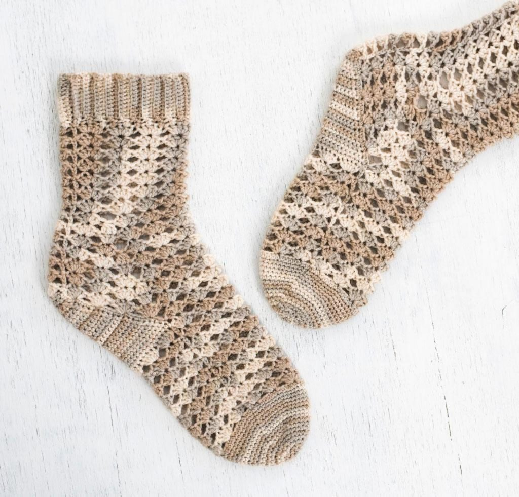 Seaside Shells Sock Craftsy Crochet Kit