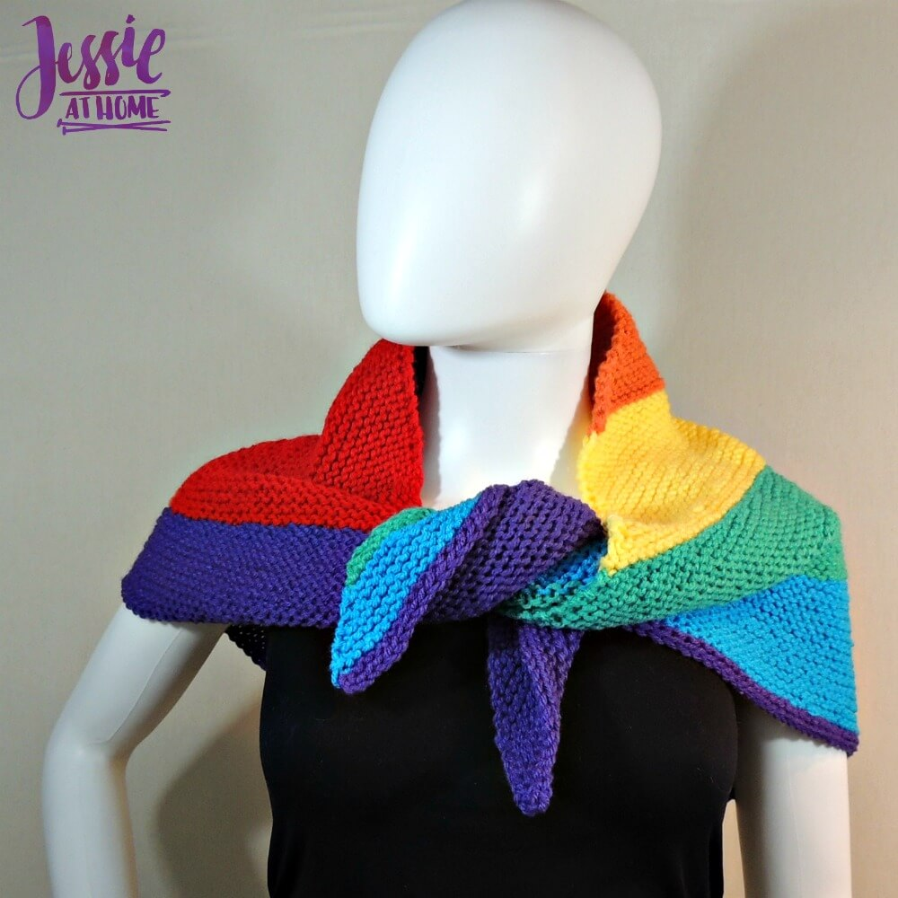 Shifting Rainbow - free knit pattern by Jessie At Home - 2