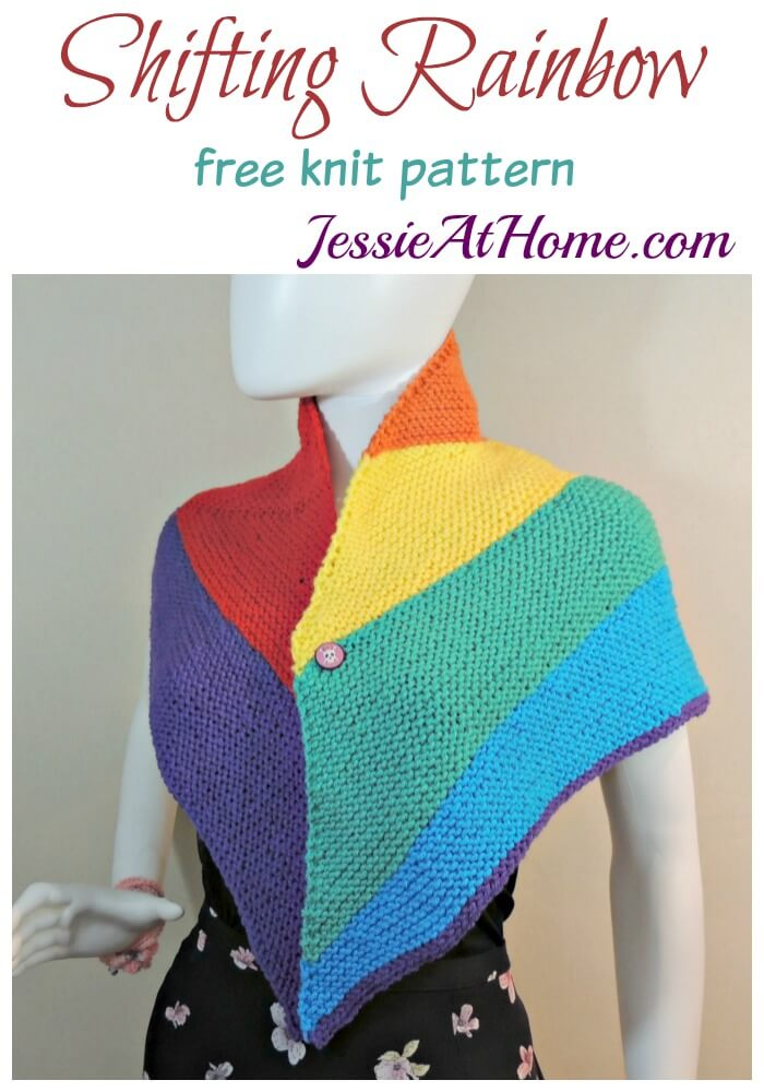 Shifting Rainbow - free knit pattern by Jessie At Home