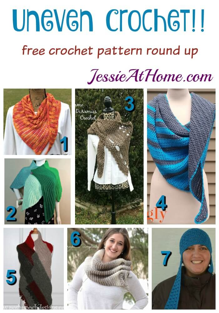 Uneven Crochet free crochet pattern round up from Jessie At Home