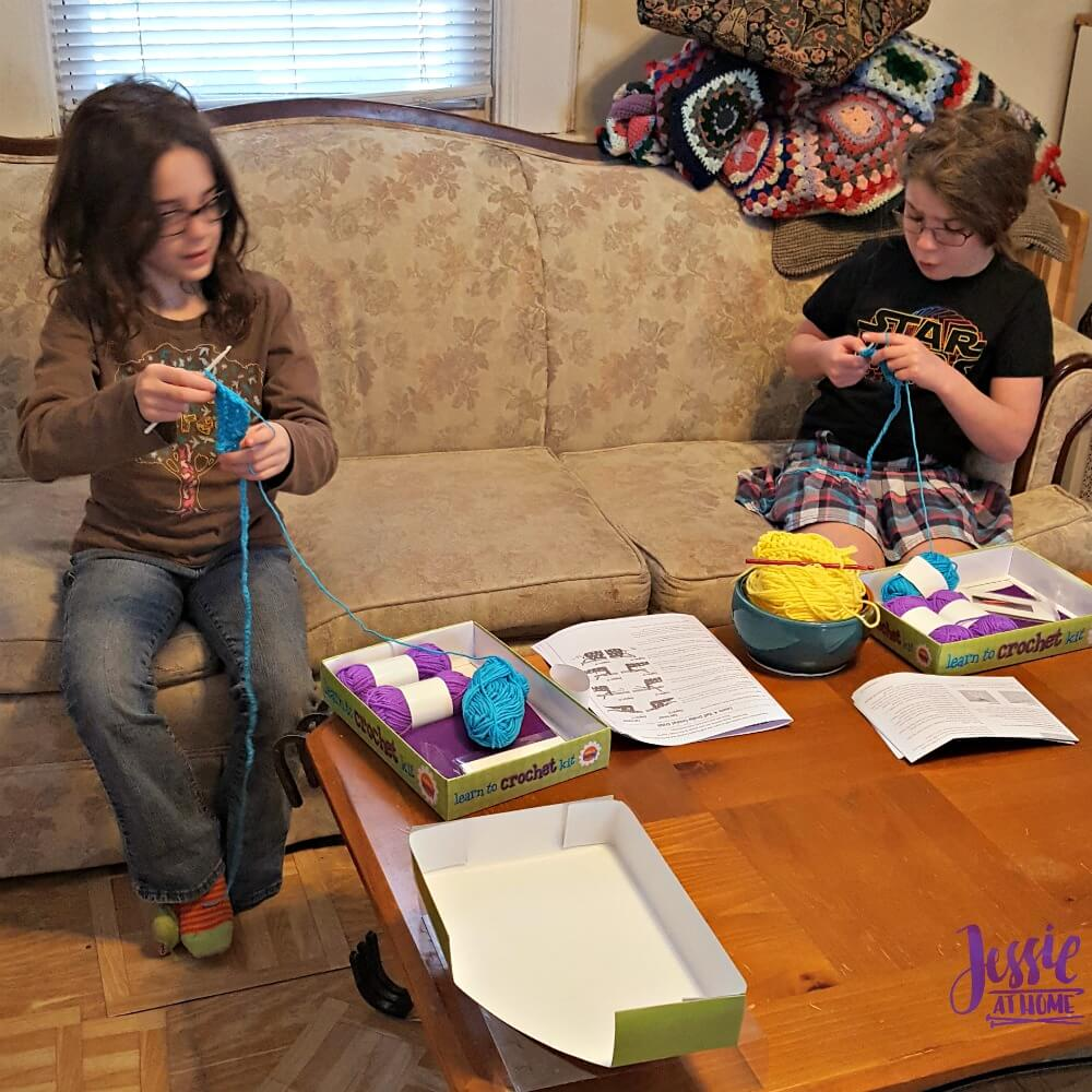 Vada and Kyla Learn to Crochet