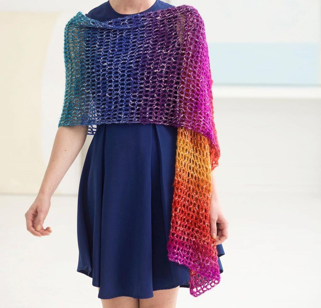 Openwork Shawl Craftsy Crochet Kit