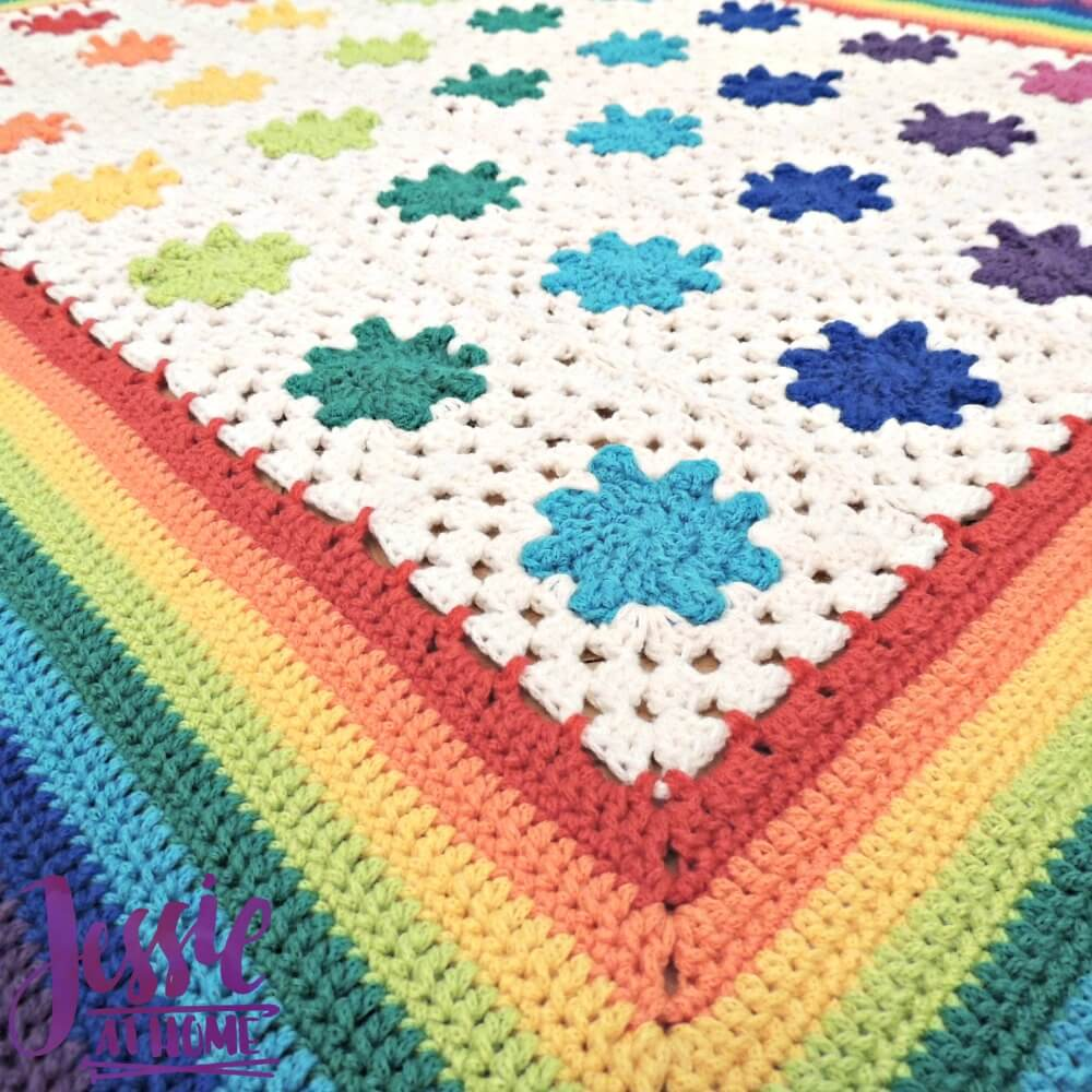 Rainbow Droplets Babyghan free crochet pattern by Jessie At Home - 2