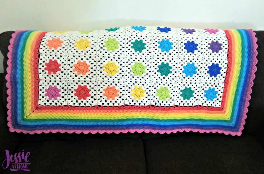 Rainbow Droplets Babyghan free crochet pattern by Jessie At Home - 3