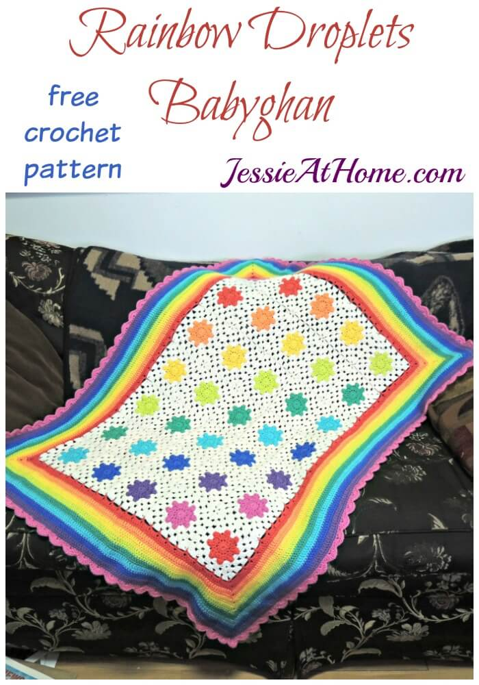 Rainbow Droplets Babyghan free crochet pattern by Jessie At Home