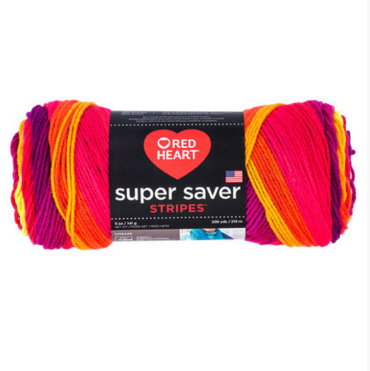 Red Heart Fruity Stripes
