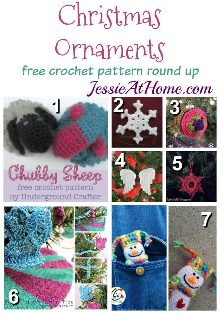 Christmas Ornaments free crochet pattern round up from Jessie At Home