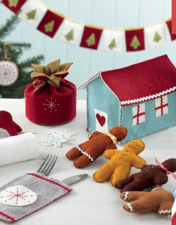 Felt Christmas Decorations Collage