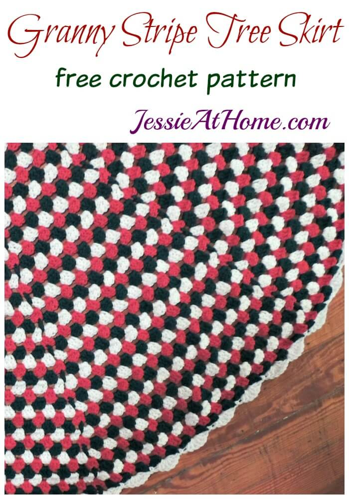 Granny Stripe Tree Skirt free crochet pattern by Jessie At Home