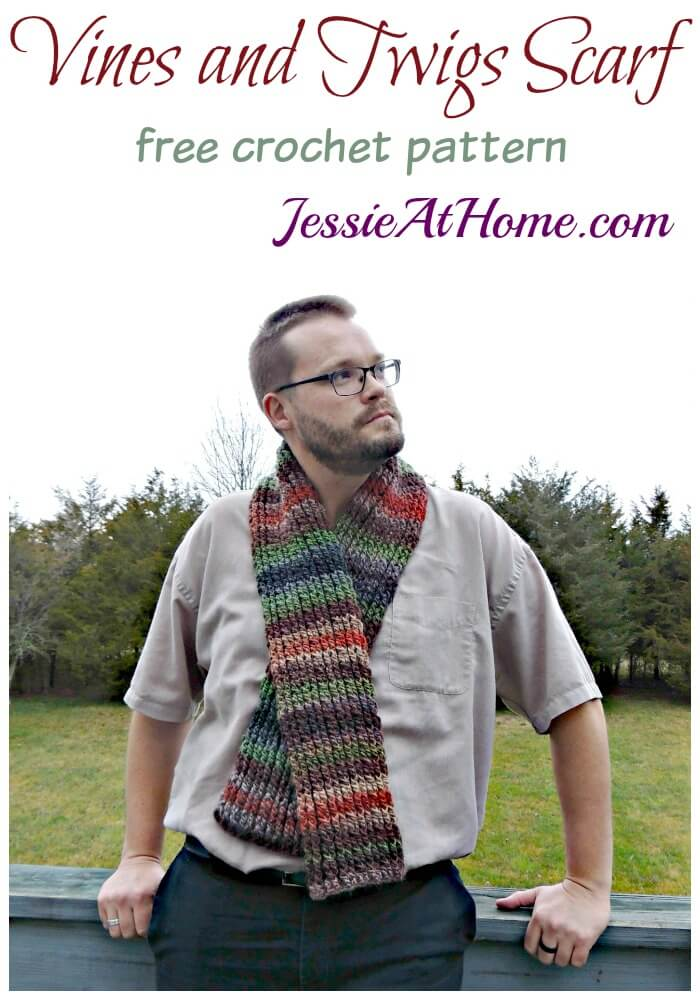 Vines and Twigs Scarf free crochet pattern by Jessie At Home