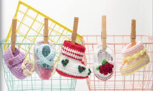 20 Crochet Baby Shoes - on line