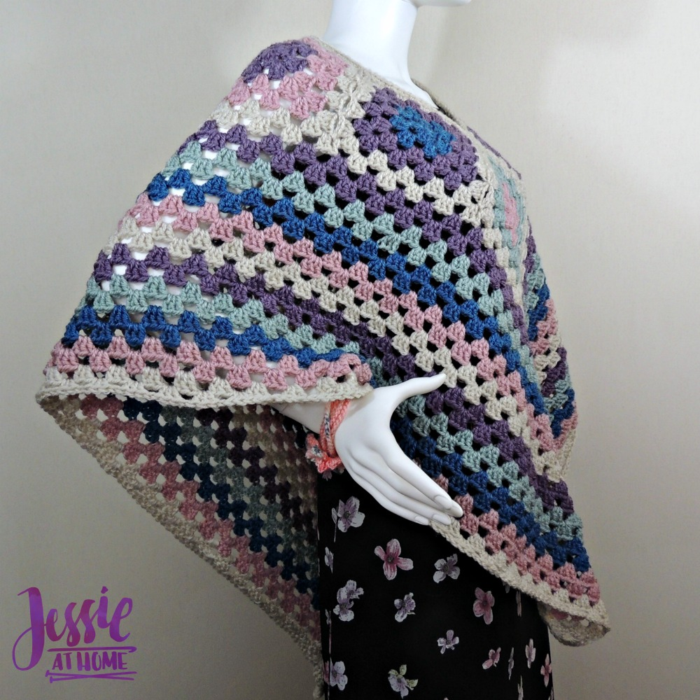 Granny Border Poncho - crochet pattern by Jessie At Home - 3