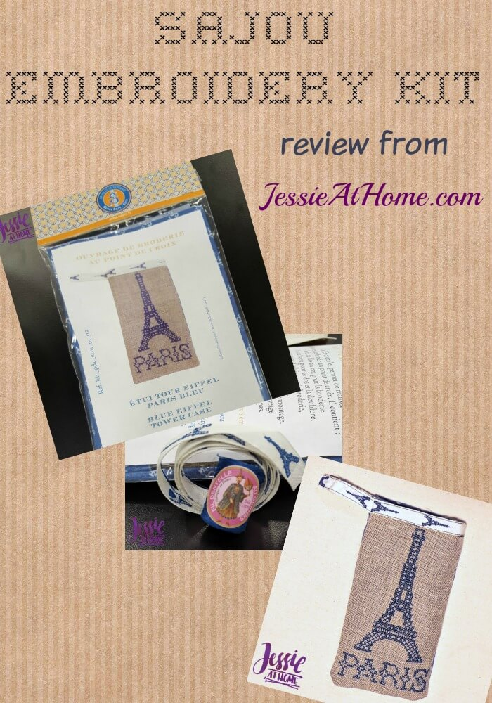 Sajou Embroidery Kit review from Jessie At Home