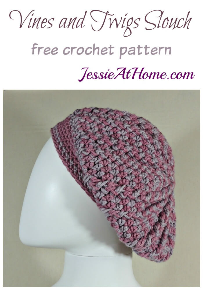 Vines and Twigs Slouch Hat free crochet pattern by Jessie At Home