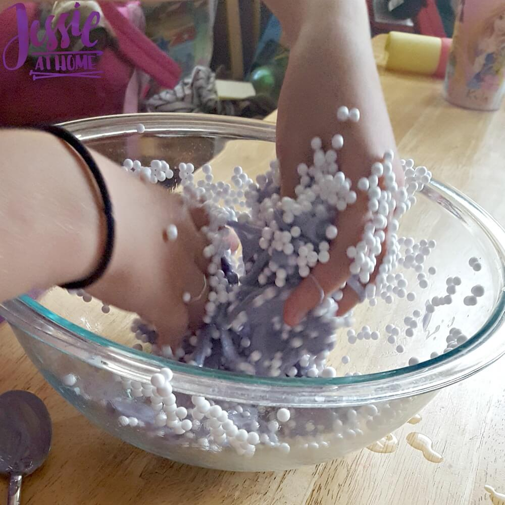 making purple ball slime