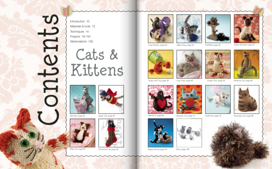 Knitted Cats and Dogs - Cats