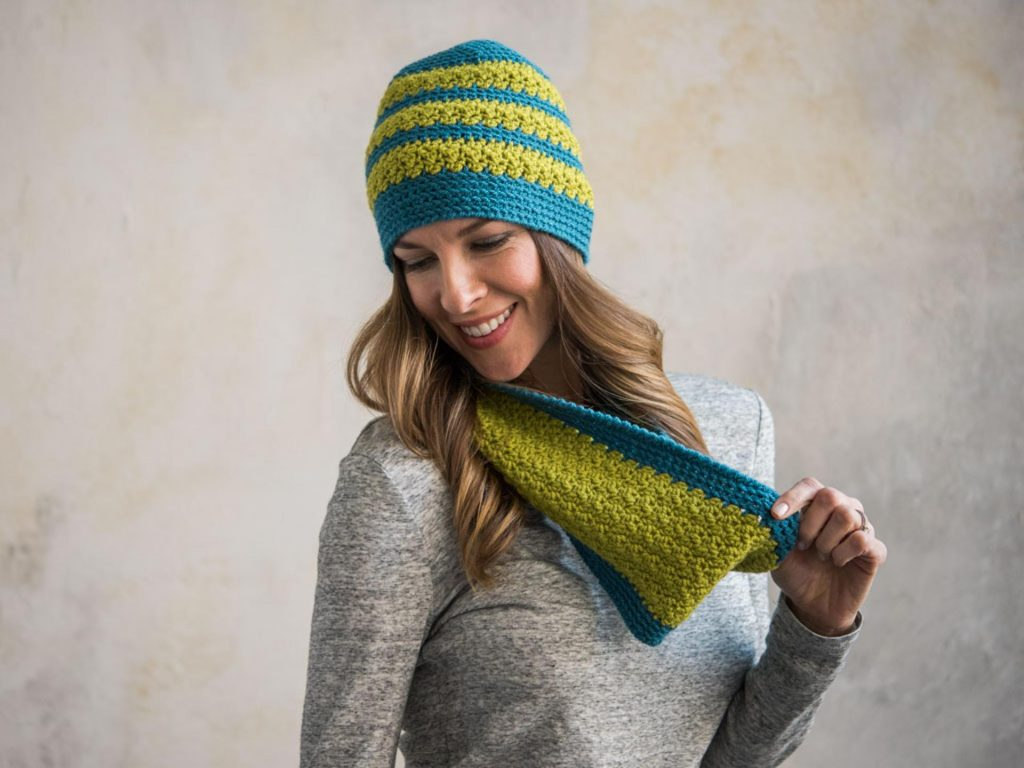 Meadow Brook Cowl and Beanie Craftsy Crochet Kit