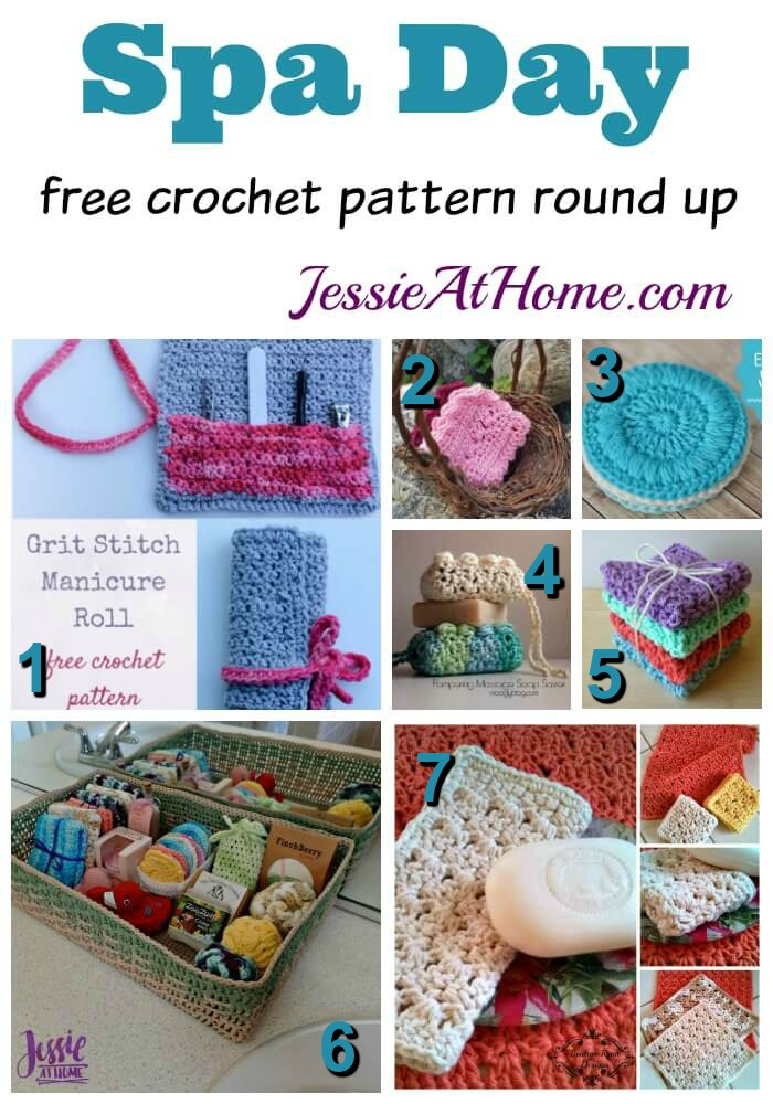 Spa Day free crochet pattern round up from Jessie At Home