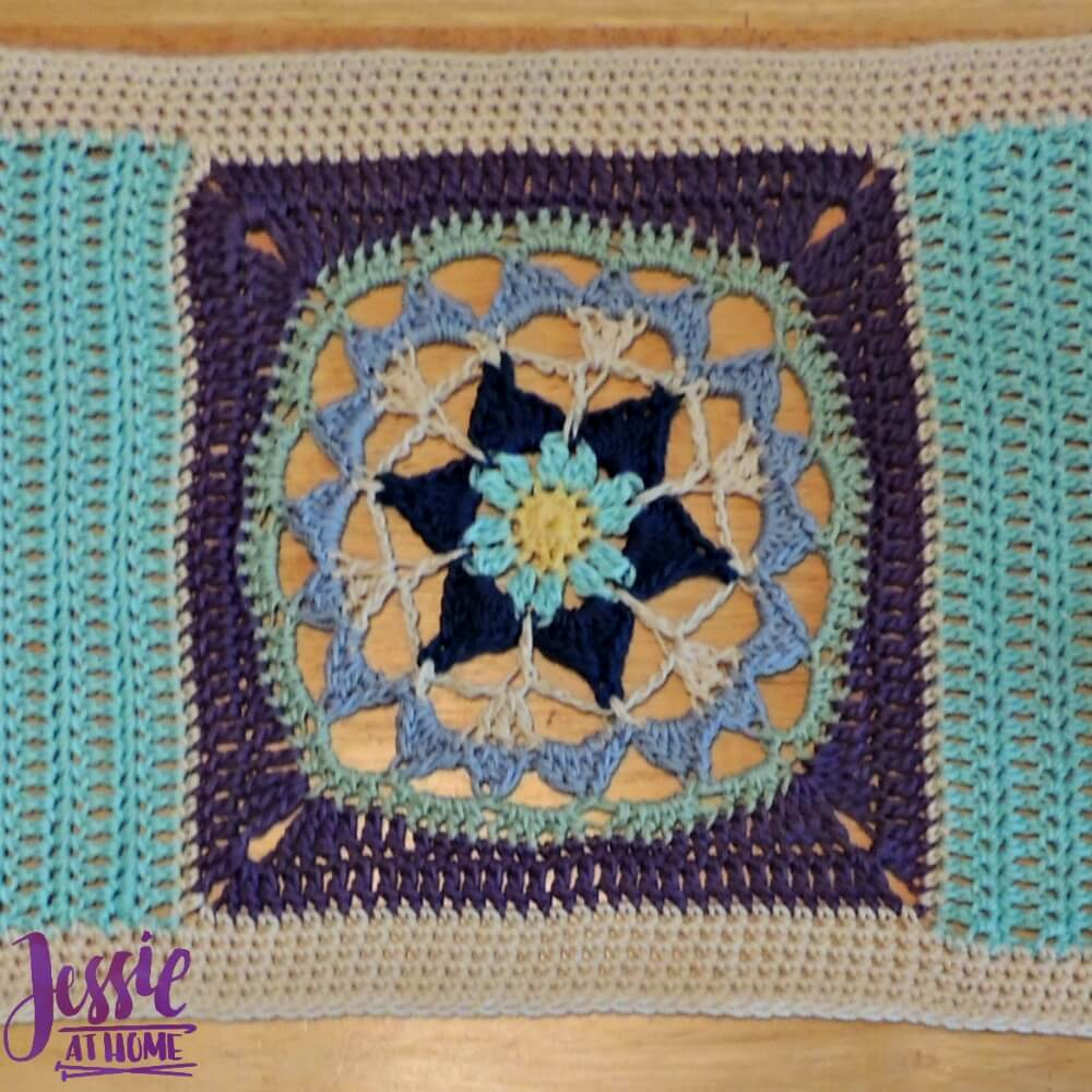 Flower Table Runner free crochet pattern by Jessie At Home - 2