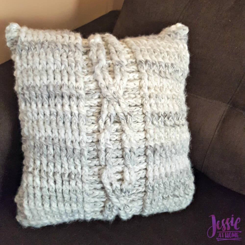 Giant Crochet Cable Pillow Jessie At Home