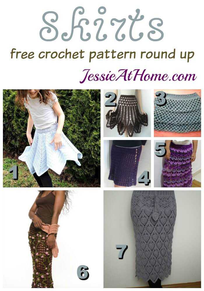 Skirts - crochet pattern round up from Jessie At home