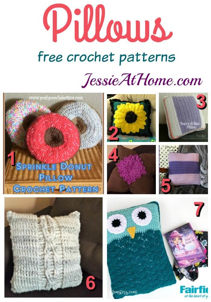 Pillows - free crochet patterns from Jessie At Home