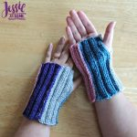 Stripey Mitts - free crochet pattern by Jessie At Home - 1