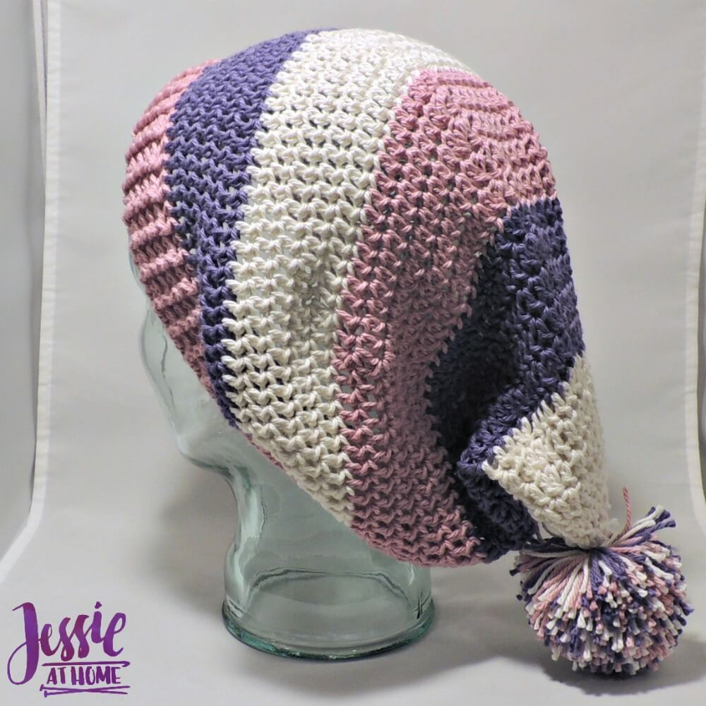 Stripey Stocking Hat - free crochet pattern by Jessie At Home - 3