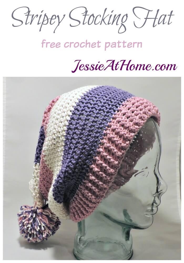 Stripey Stocking Hat Jessie At Home
