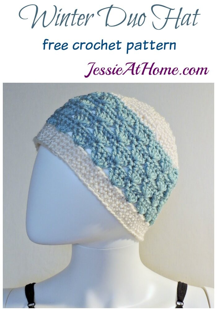Winter Duo Hat free crochet pattern by Jessie At Home