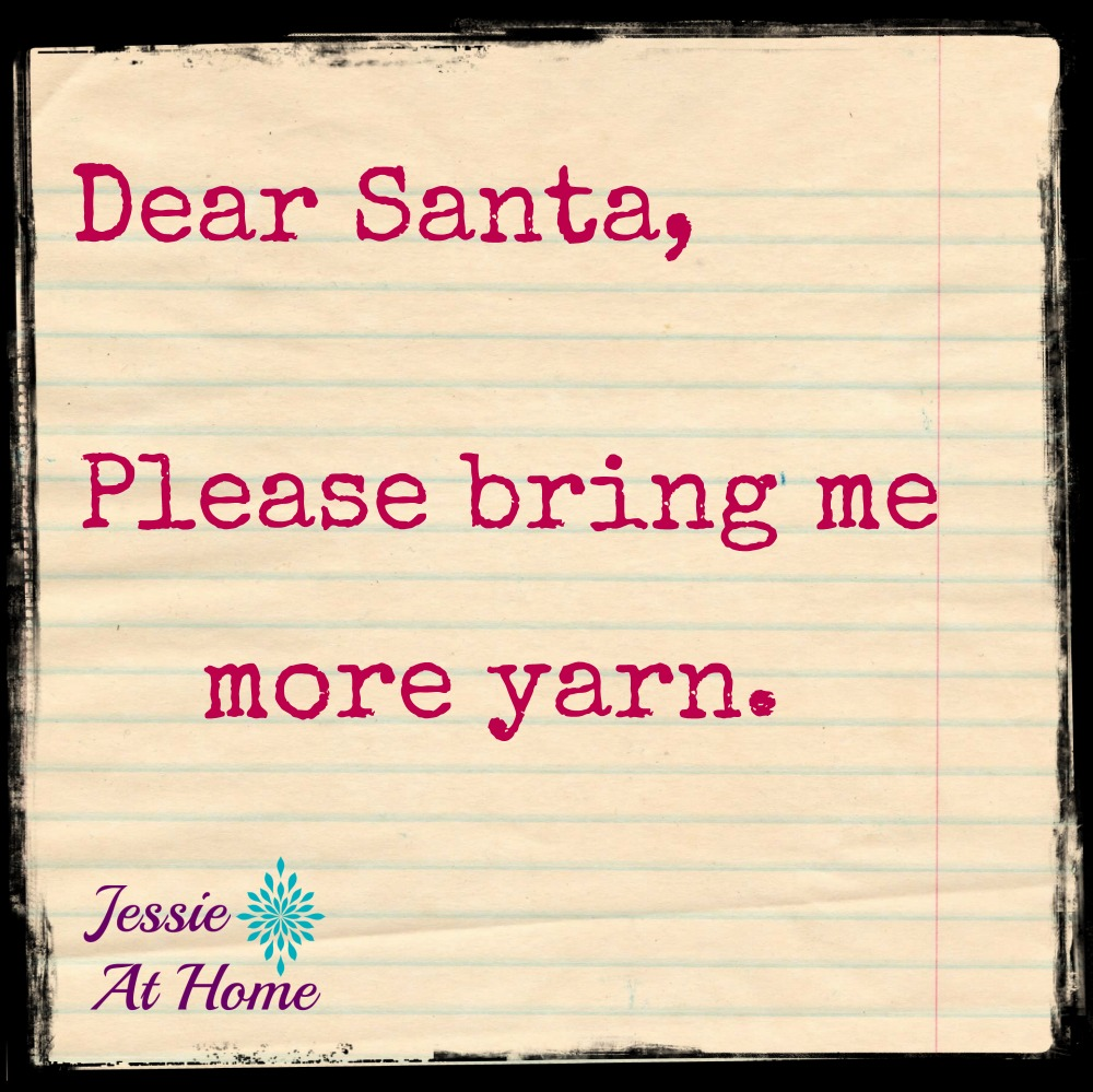 All I want for Christmas is yarn.