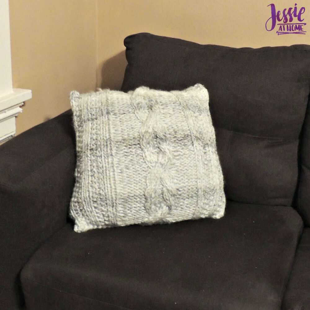 Giant Cabled Knit Pillow Jessie At Home