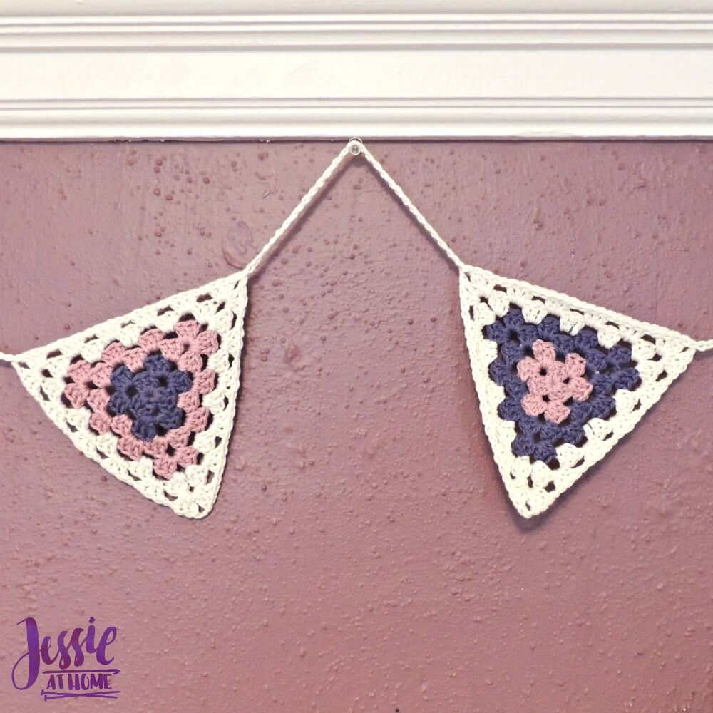 Granny Triangle Bunting free crochet pattern by Jessie At Home - 2