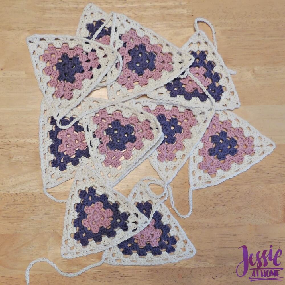 Granny Triangle Bunting free crochet pattern by Jessie At Home - 3