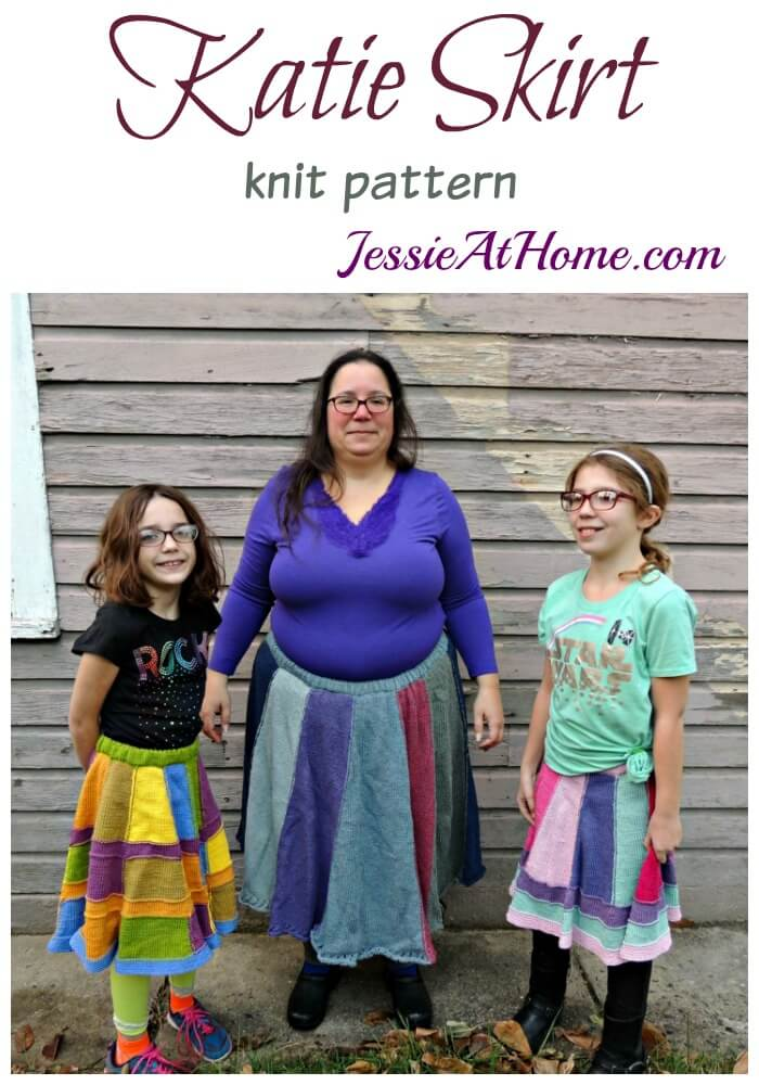 Katie Adult Skirt Free Knit Pattern Jessie At Home