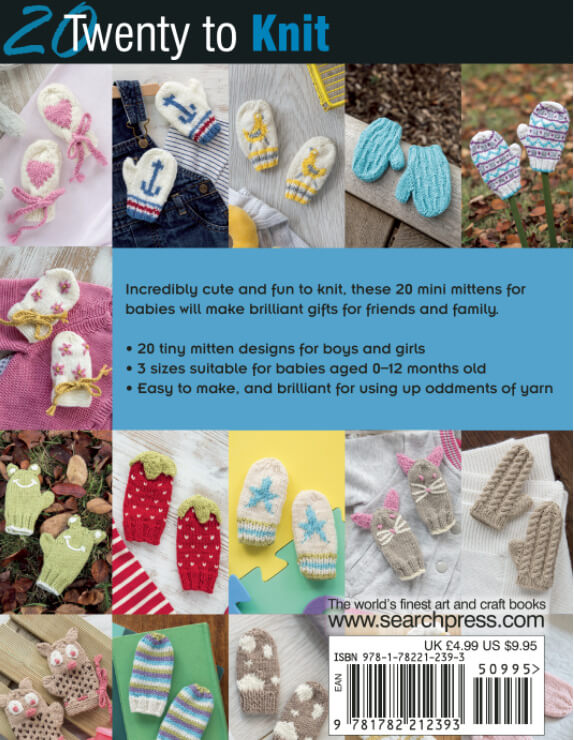 Knitted Baby Mitts - back cover
