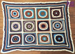 Mandala Blanket crochet pattern by Jessie At Home - 3