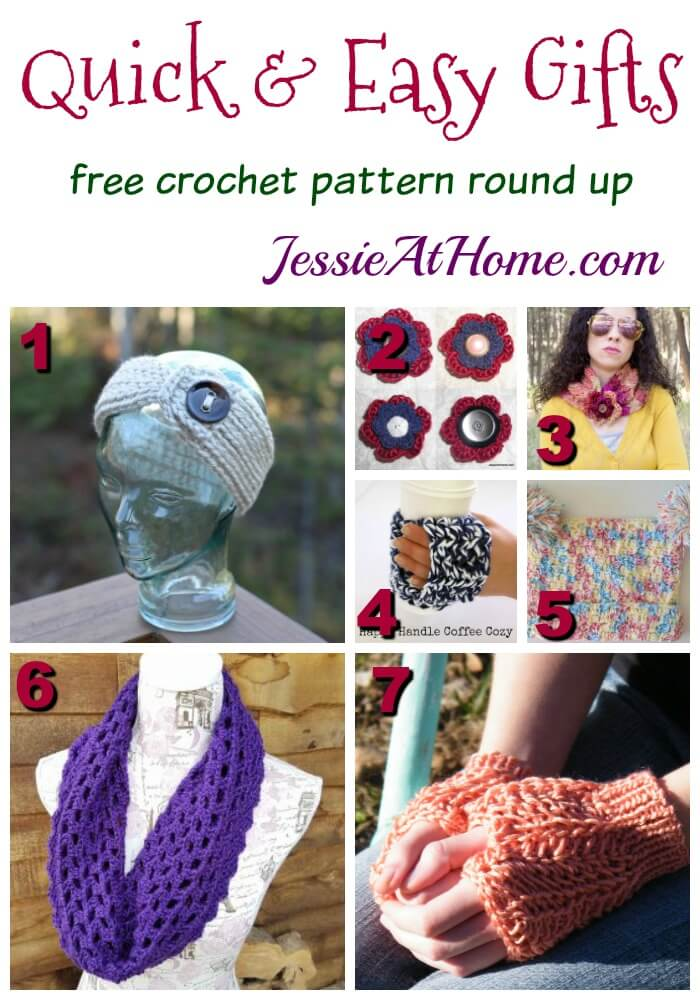 Quick & Easy Gifts free crochet pattern round up from Jessie At Home