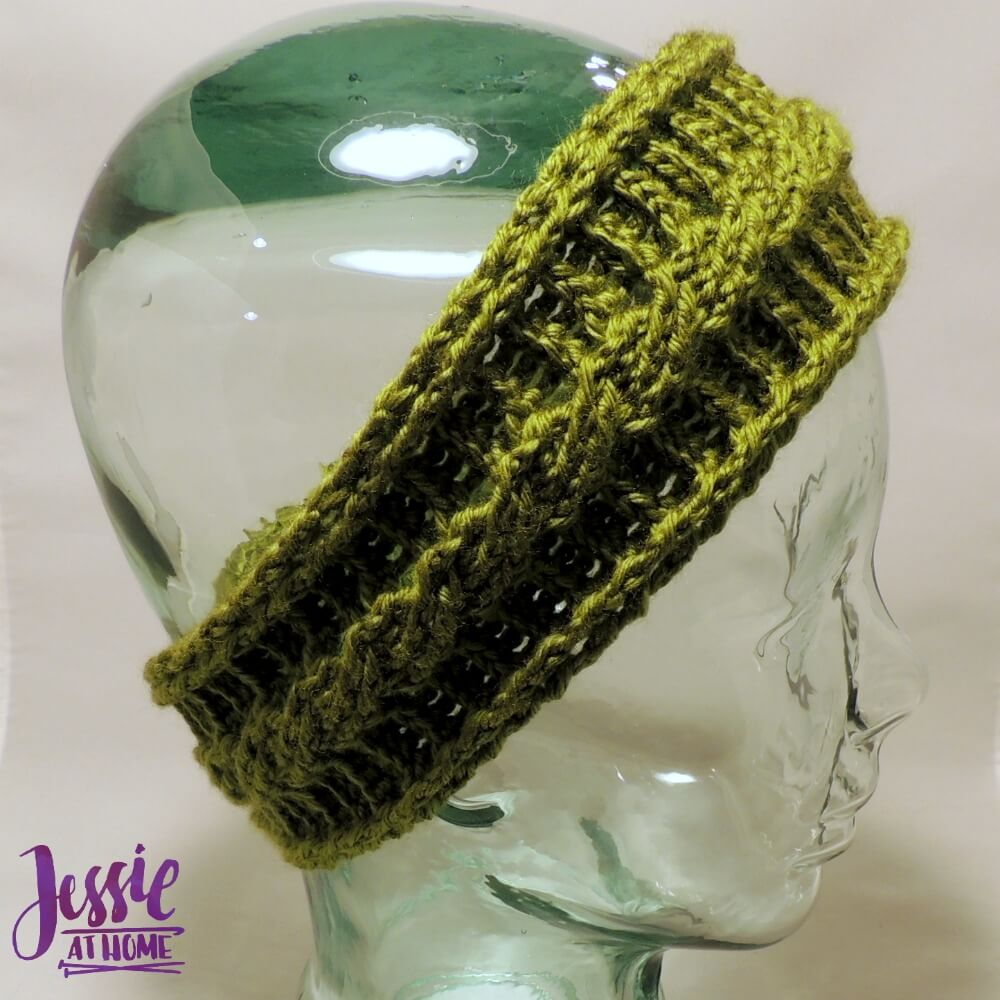 Cabled Ear Warmers - free crochet pattern by Jessie At Home - 2