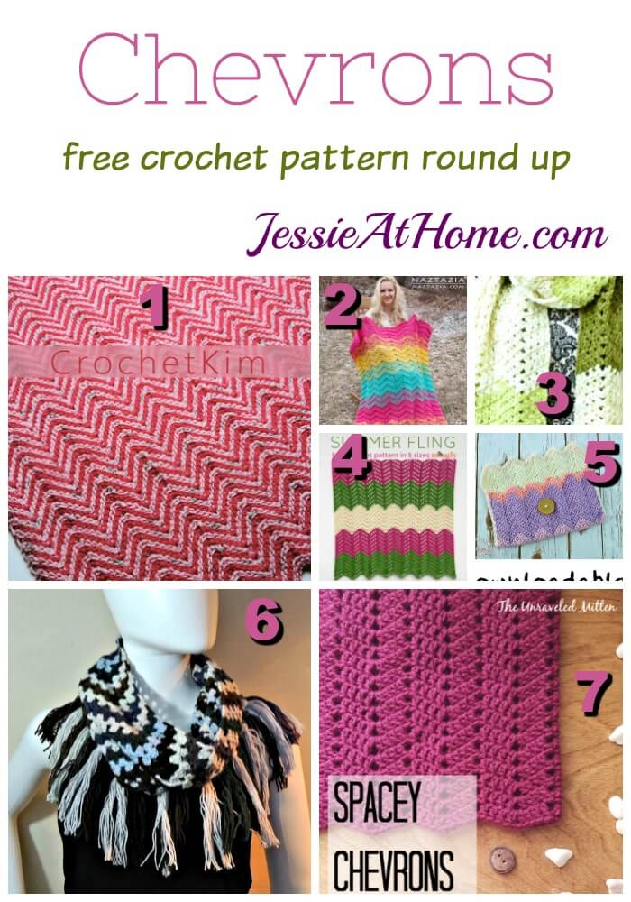 Chevrons free crochet pattern round up from Jessie At Home