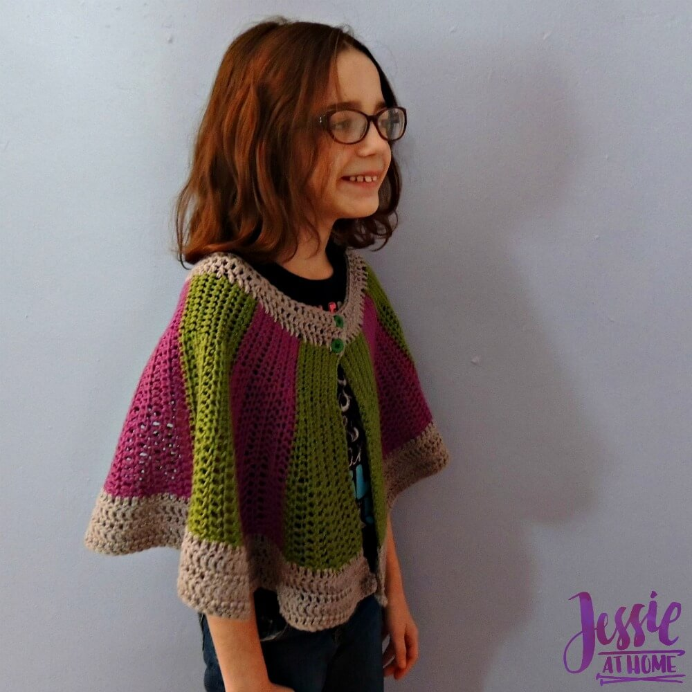 Chic Little Cape free crochet pattern by Jessie At Home - 2