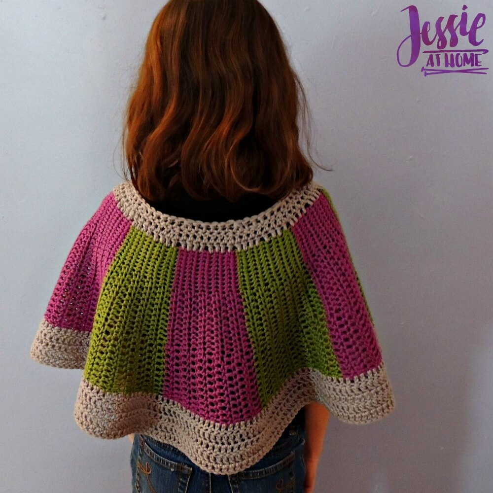 Chic Little Cape free crochet pattern by Jessie At Home - 3