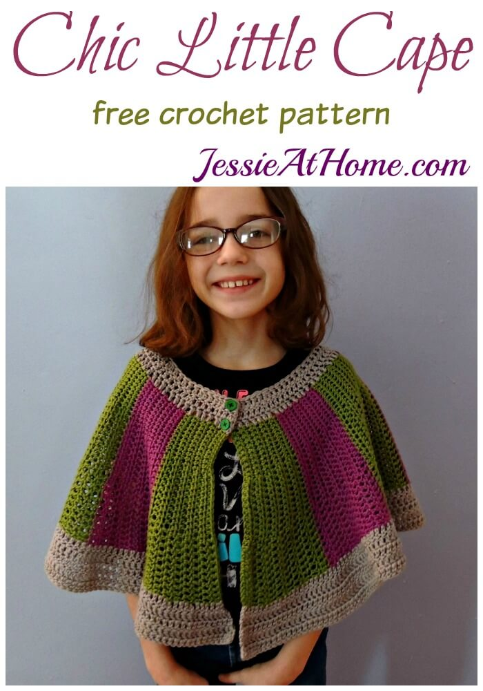 Chic Little Cape free crochet pattern by Jessie At Home