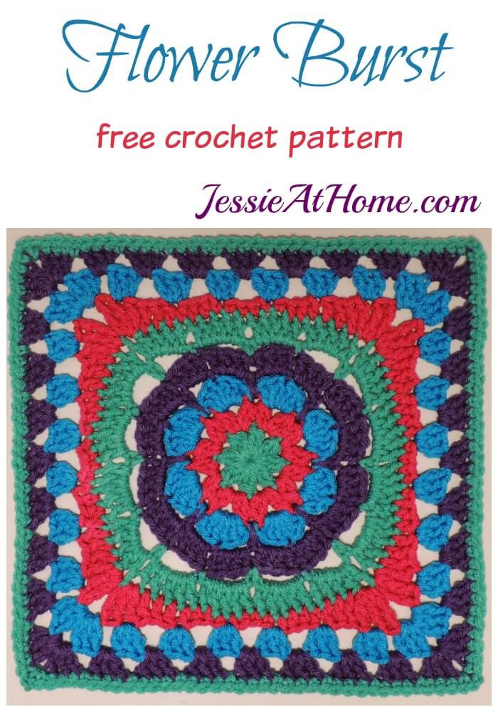 Flower Burst free crochet pattern by Jessie At Home