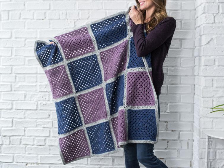 Fresh Finish Granny Square Blanket Crafty Crochet Kit