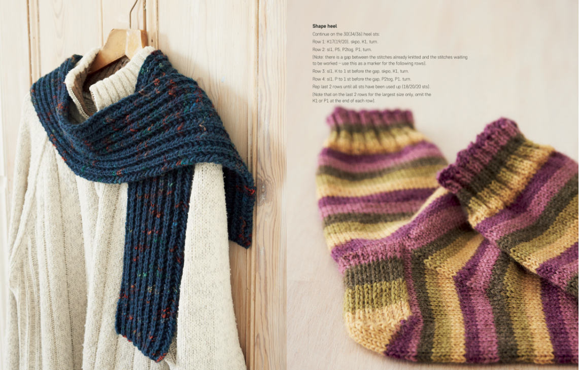 Knit Yourself Calm scarf and socks
