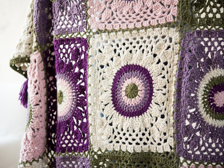 Mis-Match Squares Blanket Craftsy Crochet Kit