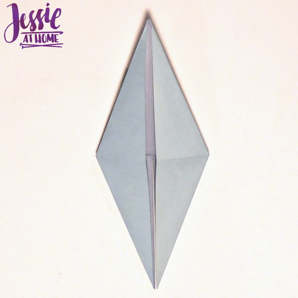 Origami Learn The Origami Bird Base Pattern Jessie At Home