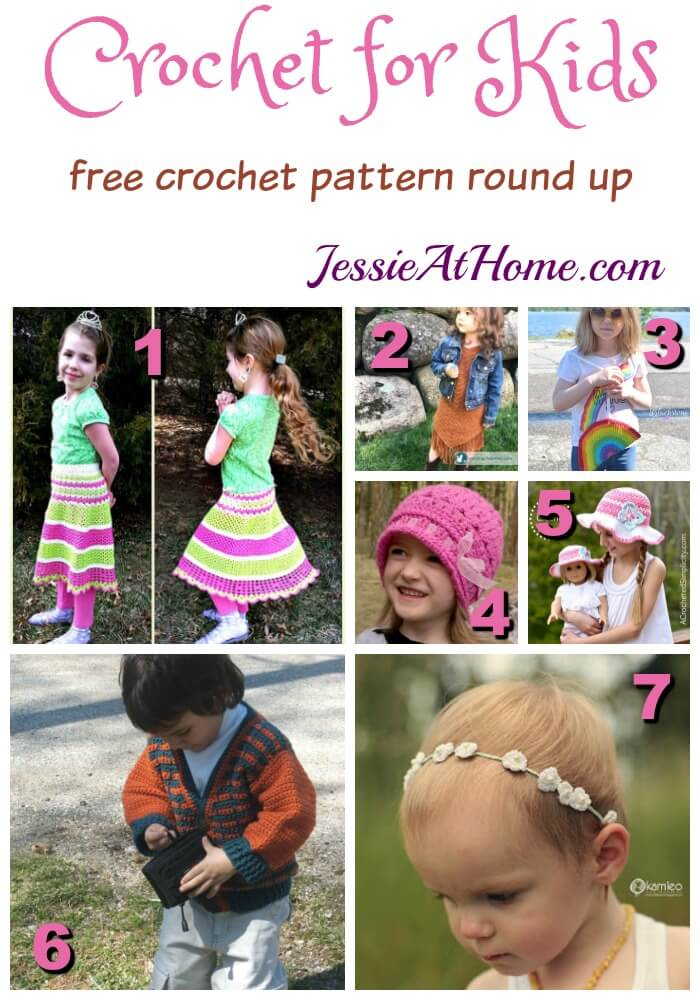 Crochet for Kids free crochet pattern round up from Jessie At Home